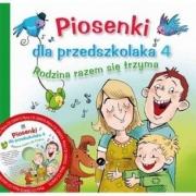 Ok�adka - Piosenki dla przedszkolaka 4. Rodzina razem si� trzyma