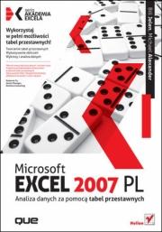 Ok�adka - Microsoft Excel 2007 PL. Analiza danych za pomoc� tabel przestawnych. Akademia Excela