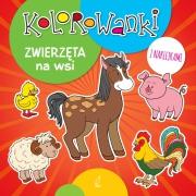 Okładka - Kolorowanki z naklejkami. Zwierzęta na wsi