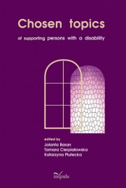 Ok�adka - Chosen topics. of supporting persons with a disability