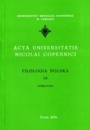 Okładka - Acta Universitatis Nicolai Copernici Filologia polska LX