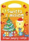 Okładka - Święta z misiem. Misiowe pomysły i naklejki. Książeczka-torebeczka