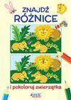 Okładka ksiązki - Znajdź różnice i pokoloruj zwierzątka