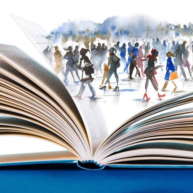 Okładka publicystyki - Gwar rozmów o literaturze. Relacja z 22. Międzynarodowych Targów Książki w Krakowie