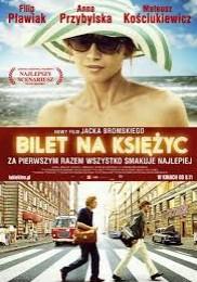 """Okładka - """"Bilet na księżyc"""" - sentymentalna podroż do Polski lat 70-tych."""